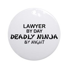 Lawyer Deadly Ninja Ornament (Round)