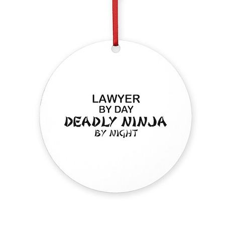 Lawyer Deadly Ninja Ornament (Round)