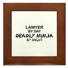 Lawyer Deadly Ninja Framed Tile
