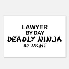 Lawyer Deadly Ninja Postcards (Package of 8)