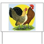 Red Quill Chickens Yard Sign