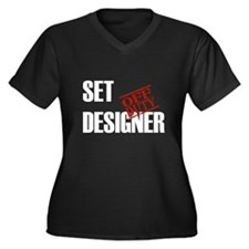 Off Duty Set Designer Women's Plus Size V-Neck Dar