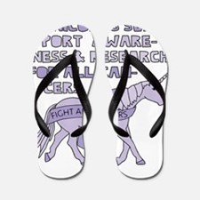 Unicorns Support Research For All Cance Flip Flops