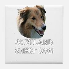 Shetland Sheep Dog Tile Coaster