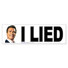 """Arnold Lied"" Bumper Bumper Sticker"