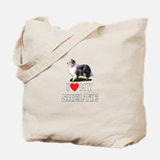 I Love My Sheltie Tote Bag