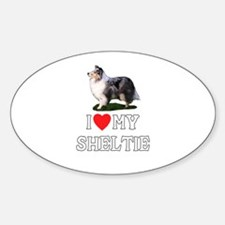 I Love My Sheltie Oval Decal