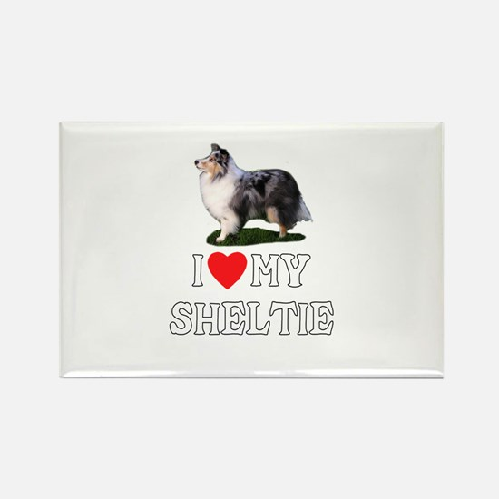 I Love My Sheltie Rectangle Magnet