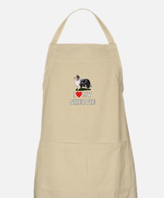 I Love My Sheltie BBQ Apron
