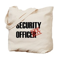 Off Duty Security Officer Tote Bag