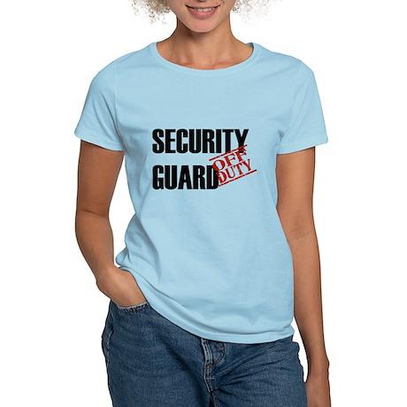 Off Duty Security Guard Women's Light T-Shirt