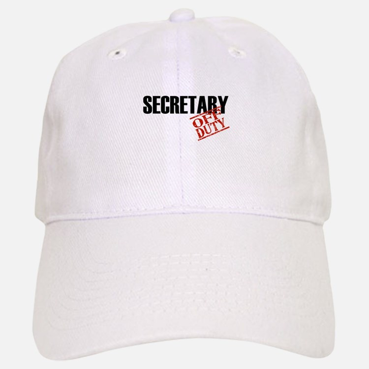Off Duty Secretary Baseball Baseball Cap