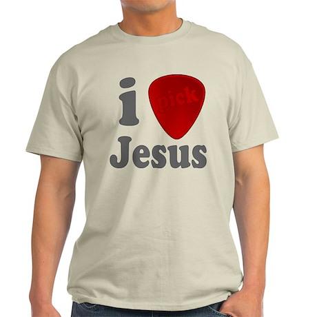 I Heart Jesus Guitar Pick Light T-Shirt