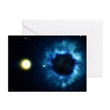 Black Hole & Star - Greeting Cards (Pkg 6)