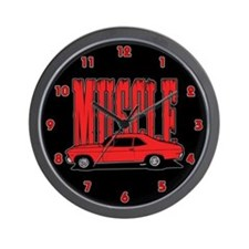Old Muscle Car Wall Clock