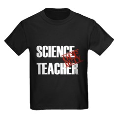 Off Duty Science Teacher Kids Dark T-Shirt