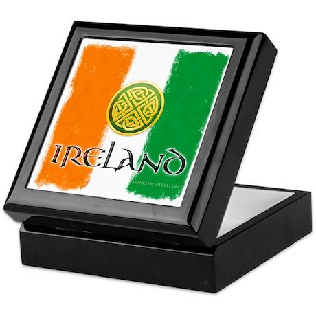 Celtic Ireland Flag Keepsake Box