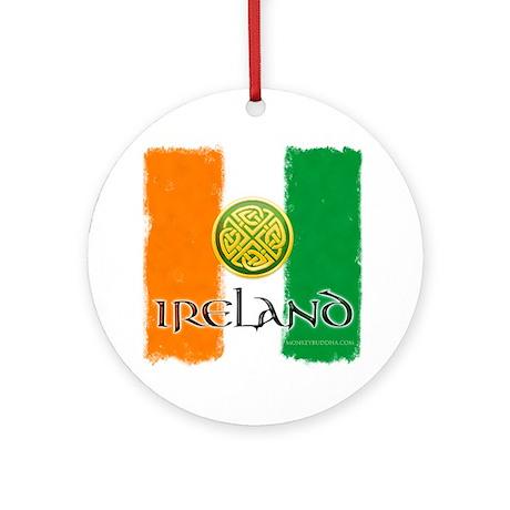 Celtic Ireland Flag Ornament (Round)