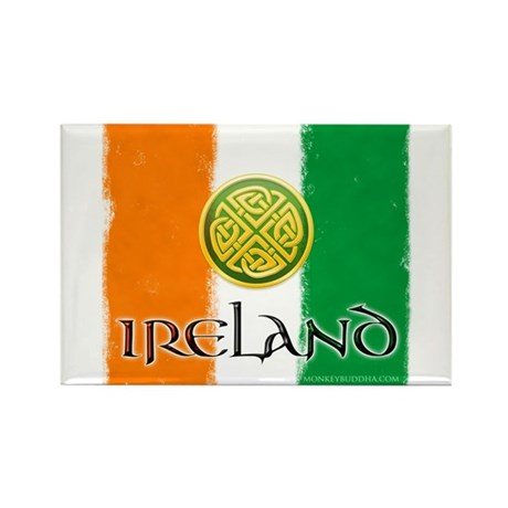 Celtic Ireland Flag Rectangle Magnet