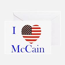 I Love McCain! Greeting Card