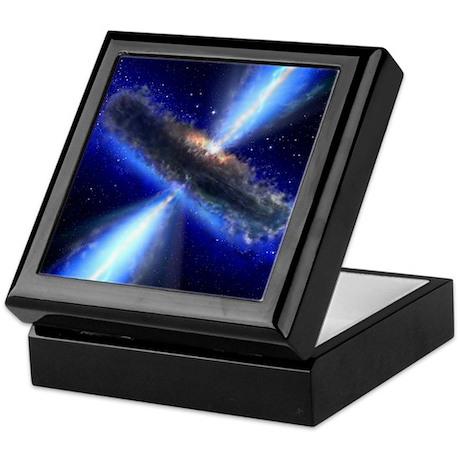 Black Hole with Dust Torus - Keepsake Box