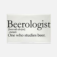 Beerologist Rectangle Magnet