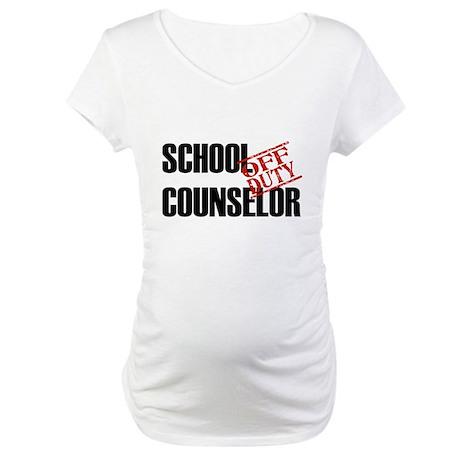 Off Duty School Counselor Maternity T-Shirt