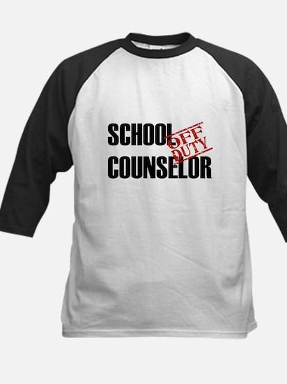 Off Duty School Counselor Kids Baseball Jersey