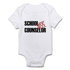 Off Duty School Counselor Infant Bodysuit