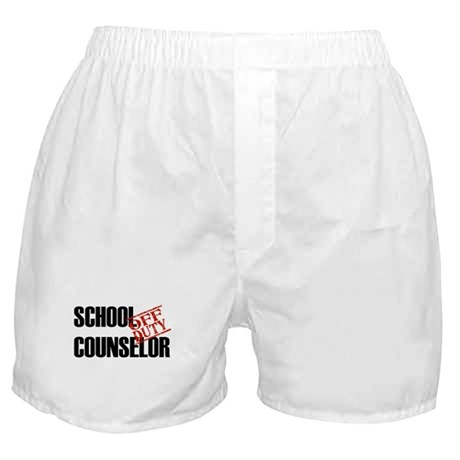 Off Duty School Counselor Boxer Shorts