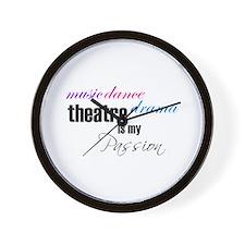 Theatre Passion Wall Clock