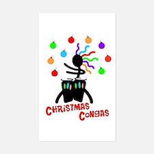 Christmas Congas Rectangle Decal