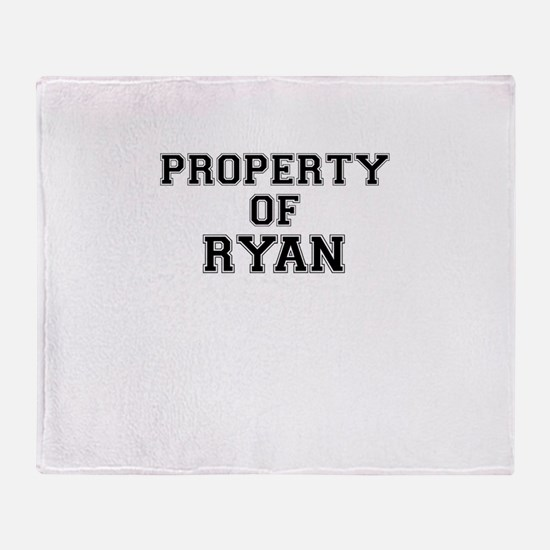 Property of RYAN Throw Blanket