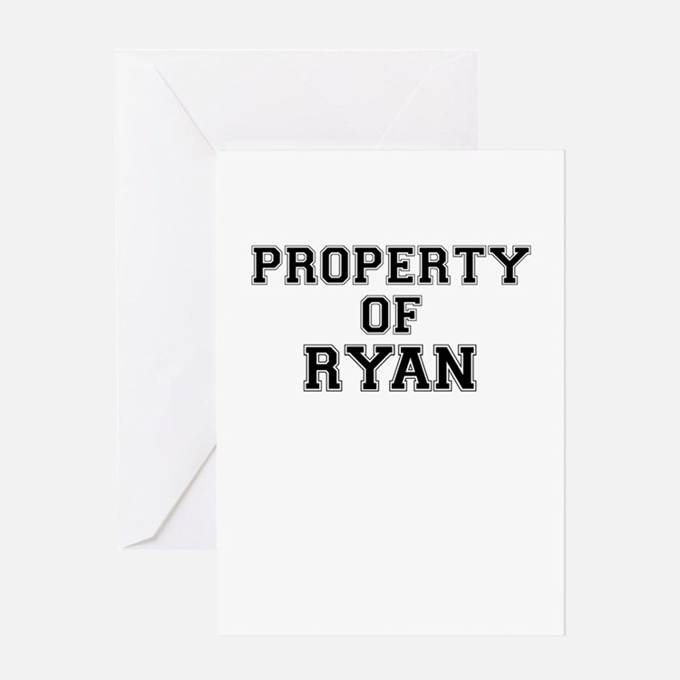 Property of RYAN Greeting Cards