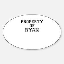 Property of RYAN Bumper Stickers
