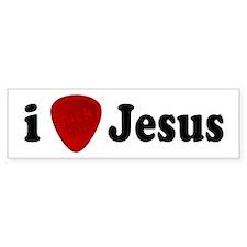 I Pick For Jesus Guitar Pick Bumper Bumper Bumper Sticker