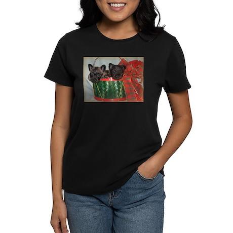 Little Drummer Cairn Pups Women's Dark T-Shirt