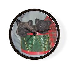 Little Drummer Cairn Pups Wall Clock