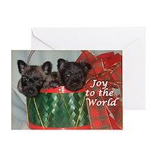 Little Drummer Cairn Pups Greeting Card