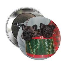 """Little Drummer Cairn Pups 2.25"""" Button"""