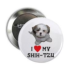"I Love My Shih-Tzu 2.25"" Button"