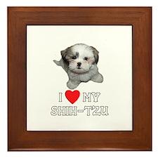 I Love My Shih-Tzu Framed Tile