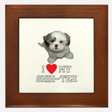 I Love My Shih-Tzu Framed Tile