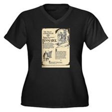 Funny Eduard Women's Plus Size V-Neck Dark T-Shirt
