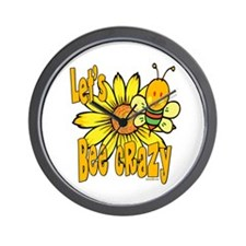 Let's Bee Crazy Wall Clock
