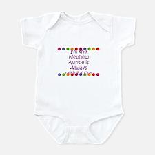 I'm the Nephew Auntie is Alwa Infant Bodysuit