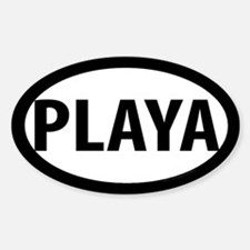 Playa Oval Decal