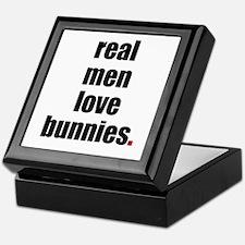 Real Men love bunnies Keepsake Box