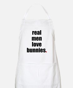 Real Men love bunnies BBQ Apron