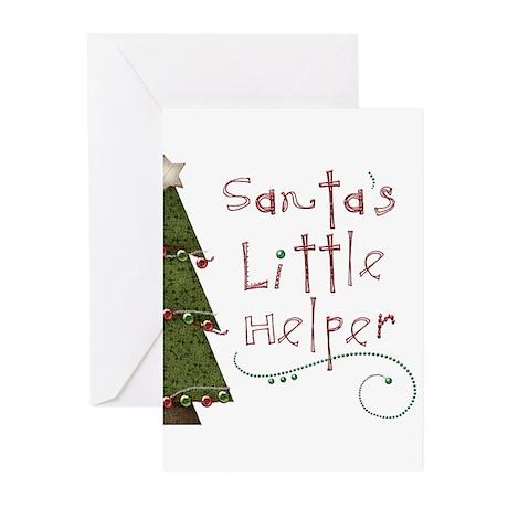 Santa's Helper by Leah Greeting Cards (Pk of 10)